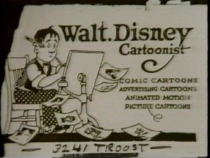 Walt Disney card