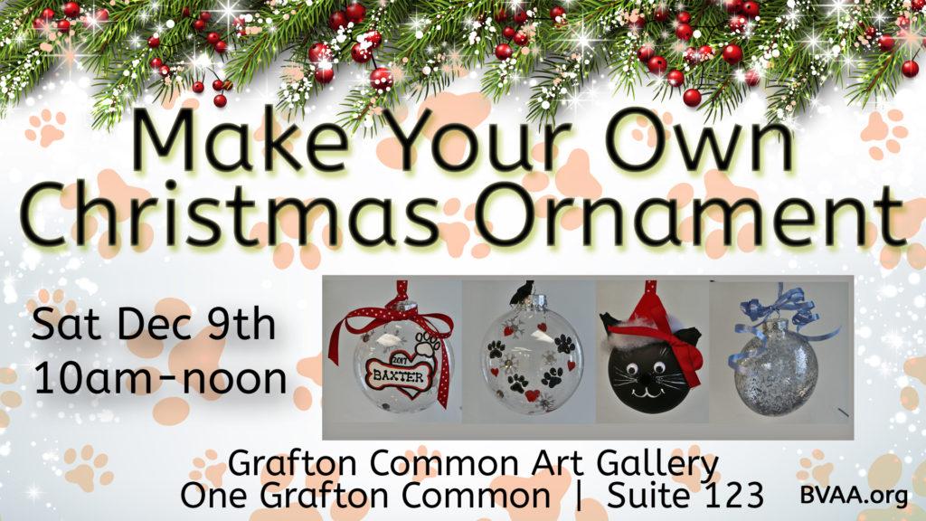 Artist Christmas Ornaments.Make Your Own Christmas Ornament Dec 9 2017 Bvaa