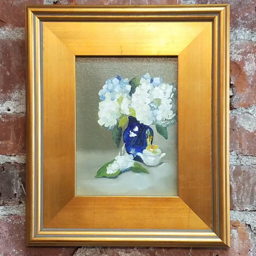 Hydrangeas in Blue by Carol Frieswick